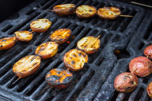 Garlic Rosemary Grilled Potatoes Image