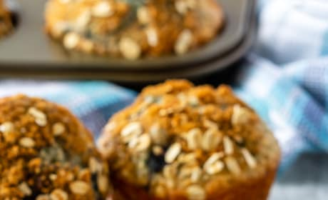 Blueberry Oatmeal Muffins Pic