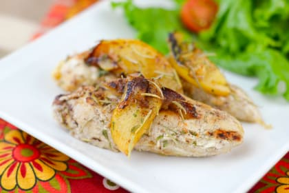 Pan-Seared Apple Chicken
