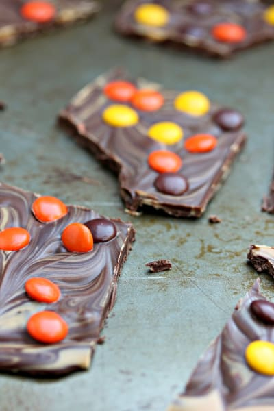 Reese's Pieces Chocolate Bark Image