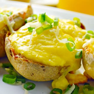 Twice baked breakfast potatoes photo