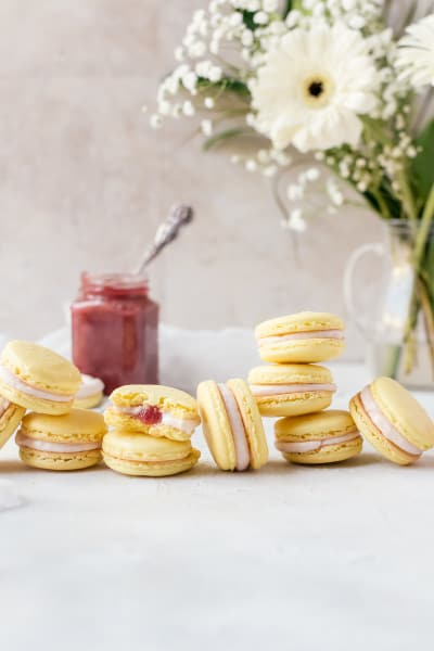 File 1 - Rhubarb Lemon Macarons