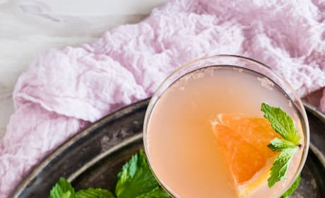 Grapefruit Campari Rose Water Cocktail Image