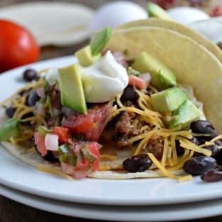 Sausage breakfast tacos photo