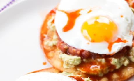 Breakfast Tostadas with Guacamole Image