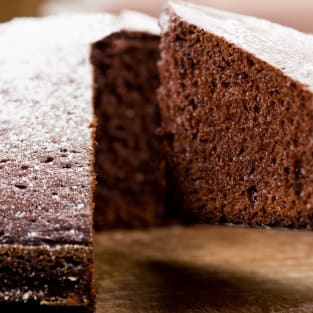 Chocolate sponge pudding photo
