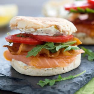 Smoked salmon blt photo