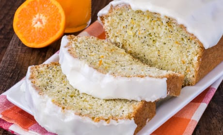 Frosted Orange Poppy Seed Bread Recipe