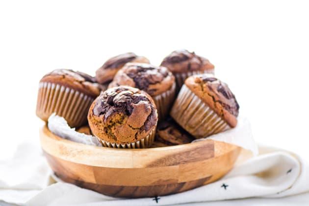 Gluten Free Nutella Swirl Pumpkin Muffins Photo