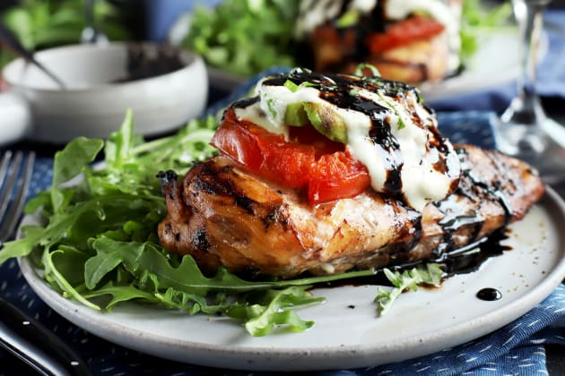 Grilled Caprese Avocado Chicken Photo