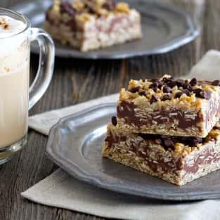 No bake chocolate peanut butter oatmeal bars photo
