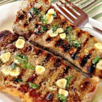 New York Strip Steak with Garlic Parsley Butter