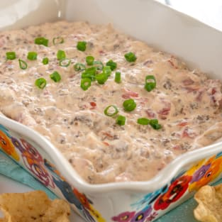 Sausage cream cheese dip photo