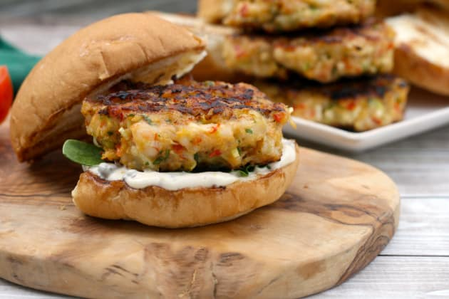 Shrimp Burgers Photo