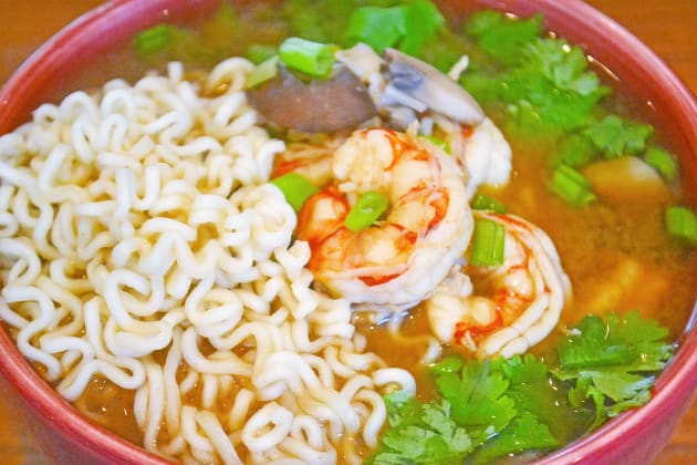 Miso Shrimp Soup with Ramen Picture