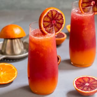Winter tequila sunrise photo