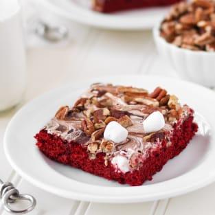 Red velvet mississippi mud cake photo