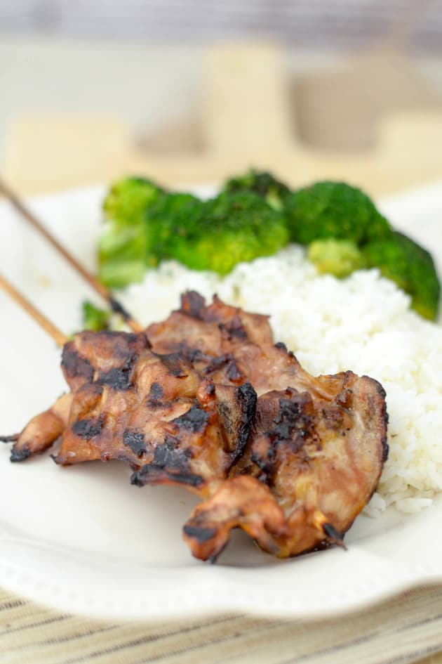 Gluten Free Teriyaki Chicken Skewers Image