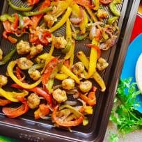 Sheet Pan Citrus Rock Shrimp Fajitas Recipe