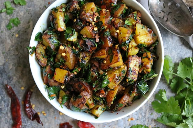 Potato Salad with Moringa Leaves Photo
