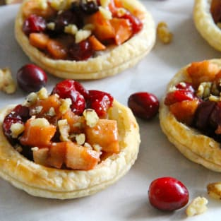 Cranberry apple walnut tarts photo