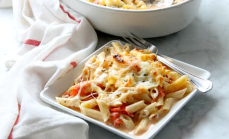 Cheesy Tomato Pasta Bake Recipe