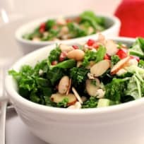 Kale Salad with Honey Pomegranate Dressing