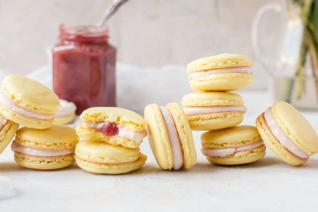 Rhubarb Lemon Macarons Photo