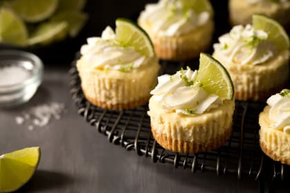 Mini Margarita Cheesecakes