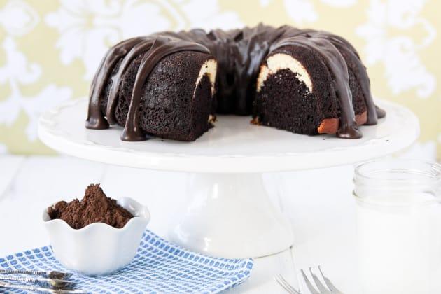 Ribboned Fudge Bundt Cake Photo