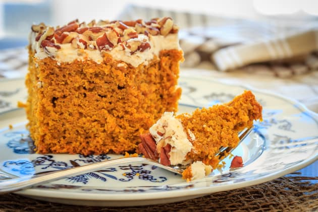 Pumpkin Snack Cake with Cream Cheese Frosting Image