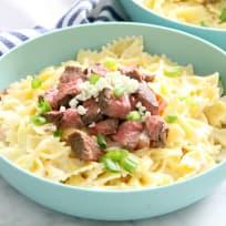 Steak Gorgonzola Pasta Recipe