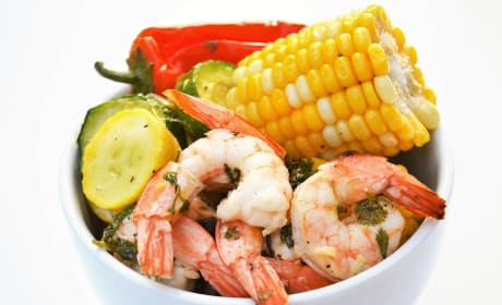 Sheet Pan Roasted Shrimp and Summer Vegetables Photo