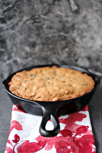 Chocolate Peanut Butter Skillet Cookie Image