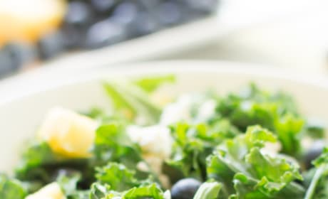 Kale Blueberry Pineapple Salad Image