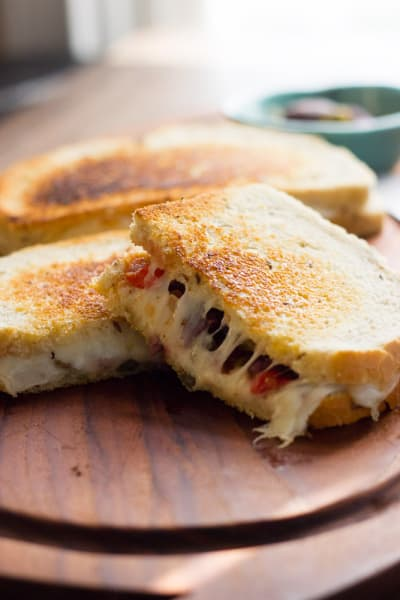 Muffuletta Grilled Cheese Pic