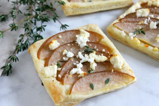 Pear Thyme Feta Tarts Photo