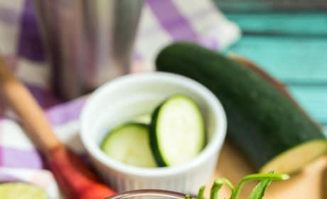 Blackberry Cucumber Tarragon Gin Fizz Pic