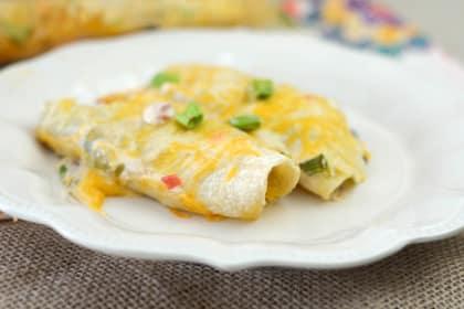 Gluten Free Cheesy Chicken Enchiladas