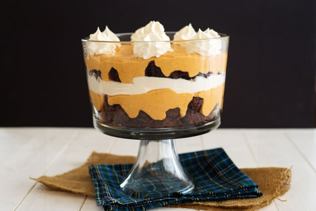 Pumpkin Brownie Trifle Photo