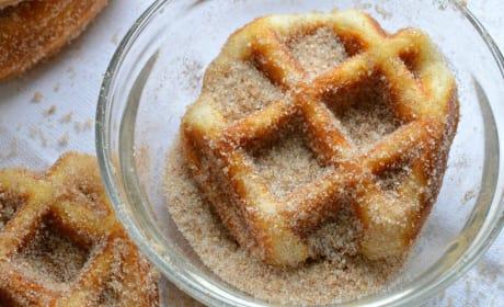 5 Minute Cinnamon Sugar Waffle Bites Image