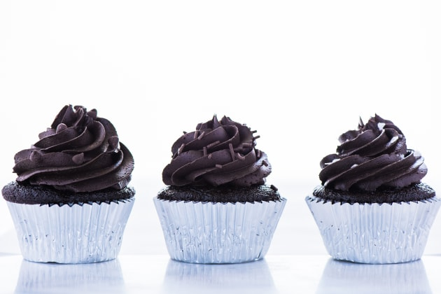 Gluten Free Double Chocolate Cupcakes Photo