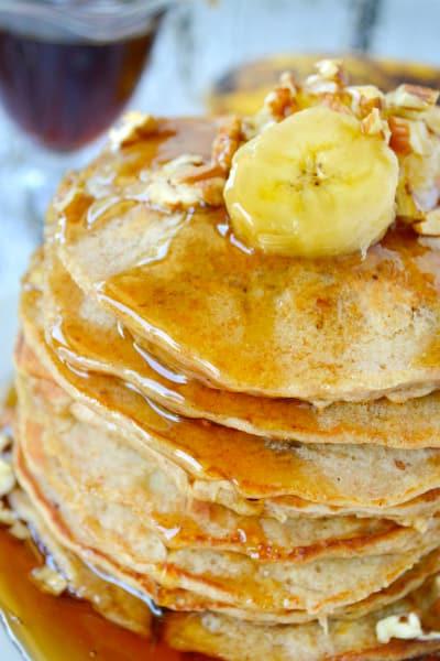 Banana Oat Pancakes Image