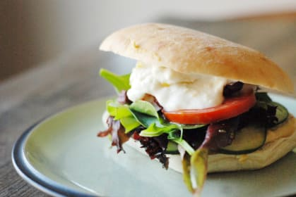 A Greek Veggie Sandwich