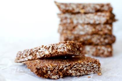 Homemade Chocolate Coconut Granola Bars
