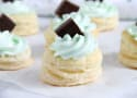 Mint Chocolate Puff Pastry Tartlets