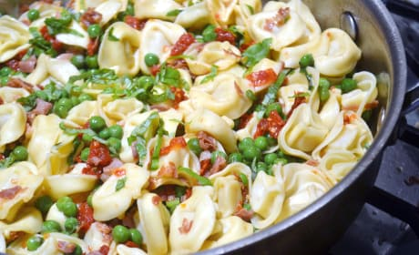 Tortellini with Peas and Prosciutto Recipe