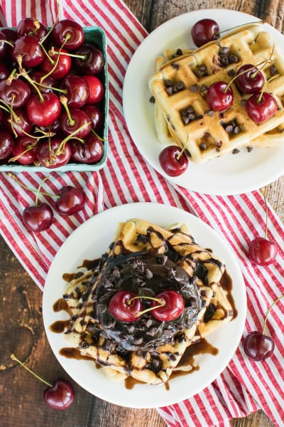Cherry Chocolate Chip Waffles Image