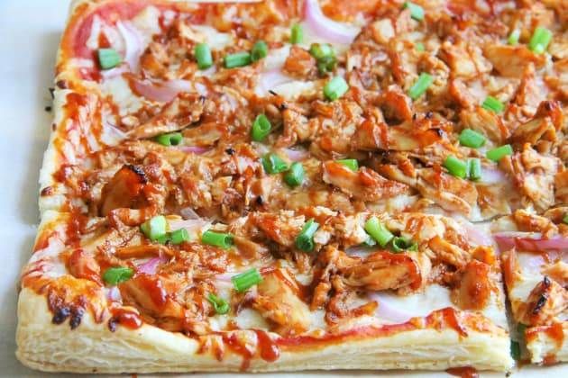 Puff Pastry BBQ Chicken Pizza Photo