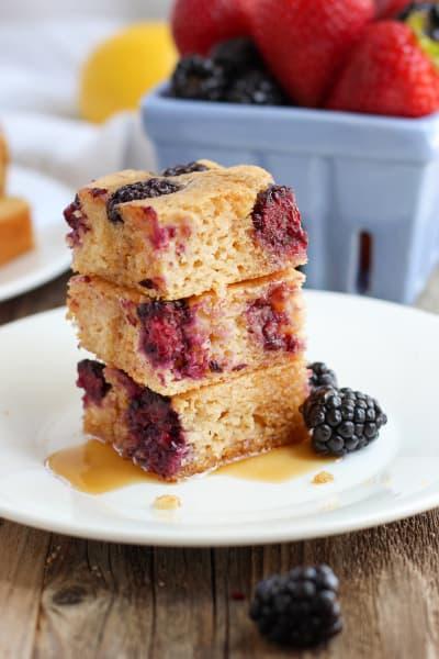 Lemon Blackberry Baked Pancake Pic
